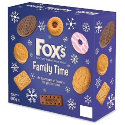 660g Fox's Family Time Biscuits Selection - CHRISTMAS HALLOWEEN PARTY GIFT