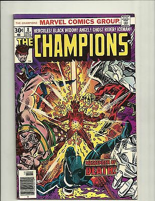 The Champions #8 - 1976 - Black Widow  Ghost Rider - Divide And Conquer - Bv $20