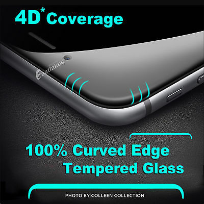 4D Full Cover Tempered Glass Screen Protector For Apple iPhone 7 8 6s 6 Plus
