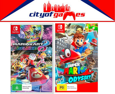 Super Mario Odyssey & Mario Kart 8 Deluxe SWITCH New In Stock