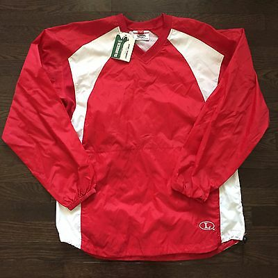 Lousiville Slugger Baseball Warmup Jacket Pullover Shell Red Mens Size S NWT!