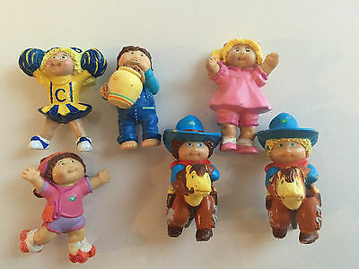 Cabbage Patch Kids Vintage 1984 OAA Inc PVC Figure Lot of 6
