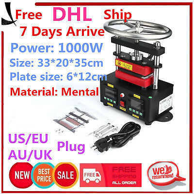 "2000+ PSI Professional Rosin Press Hand Crank Duel Heated Plates (2.4"" x 4.7"" )~"