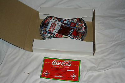 The Era's of Coca-Cola Collector Plate 1960-70 with original certificate and box