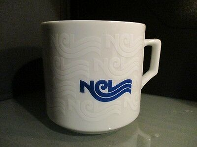 vintage 70s NORWEGIAN CRUISE LINE NCL coffee mug glass collectible GULF oil