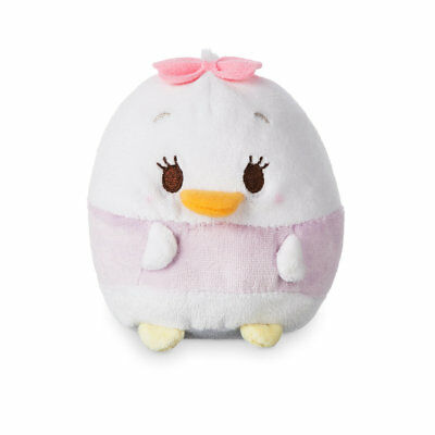 "Disney Store Daisy Duck Ufufy Plush Small 4 1/2"" Apple Blossom Scented Sits Up"