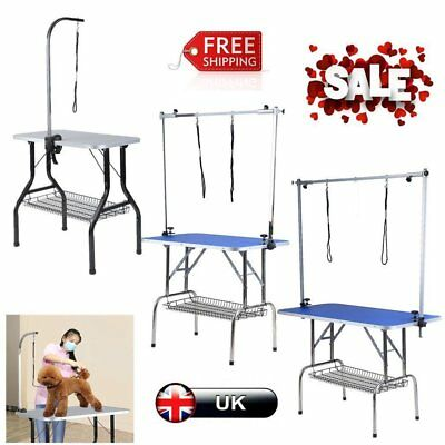 Foldable Steel Non-slip Portable Pet Dog Bathing Beauty Grooming Table 4 Size