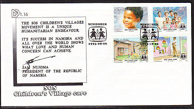 Namibia 1993 Children's Village  First Day Cover - Unaddressed