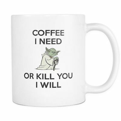 11oz Coffee Mug Tea Cup - Master Yoda Funny  Gifts For Star Wars Fans And Lovers