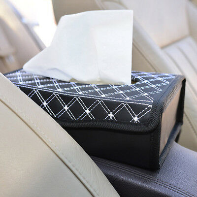 PU Leather Home Room Car Hotel Tissue Box Cover Paper Napkin Holder Case
