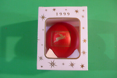 Post Office Reindeer Stamp Christmas ornament for stamp collectors