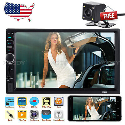 "Universal 7"" 2 Din Car Multimedia Radio MP5 Player Bluetooth HD Rear View Camera"