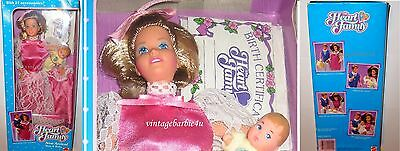Vintage Barbie Doll New Arrival Mom & Baby #2412 Heart Family NEW MINT VHTF