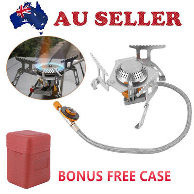 Portable Outdoor Picnic Gas Jet Mini Stove Burner Gear Cooker Cooking Hiking HH