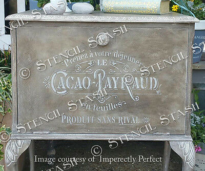 French Vintage STENCIL A4 CPD Shabby Chic Furniture, SUPERIOR 250 MYLAR
