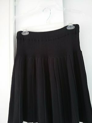 Skirt Pleated by Moratti Essential Clothing Black in Size L 100% Cotton