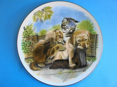 Royal Albert Plate Like New Playful Friends Find Your Own Shoe Kittens & Puppy
