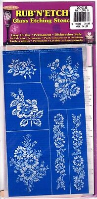GLASS ETCHING STENCIL-HIGH DETAIL RNE  20-0138 - Floral 8