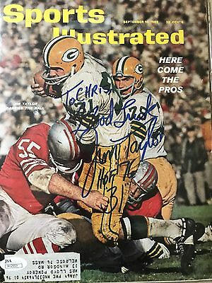 Jim Taylor Green Bay Packers Jsa Signed Sports Illustrated