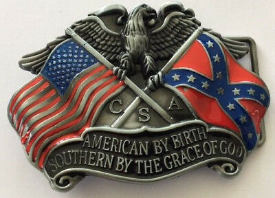 American by birth Southern by the grace of God Belt Buckle.    E040905