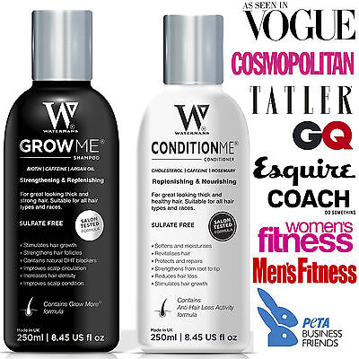 Watermans Hair Growth Shampoo & Conditioner For Fast Hair Growth Women & Men