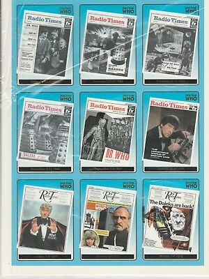 RARE Dr Doctor Who Series 1 Foil Chase Trading Cards Printed On Two A4 Sheets