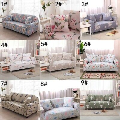 Floral Sofa Cover Anti-Slip Slipcovers Stretch Loveseat Armchair Couch  Cover