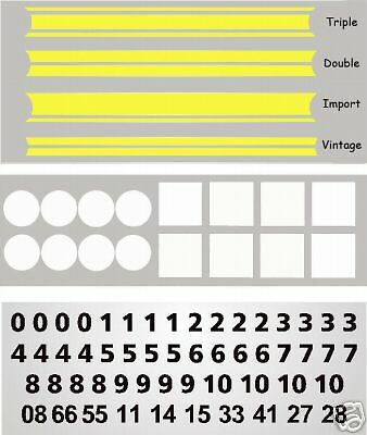 MG3015Y - Yellow Slot Car Vinyl Decals 1:32-1:24 Fits Artin Scalextric