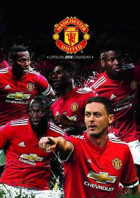 Manchester United Football Club Official 2018 A3 Wall Calendar Calender MUFC Utd