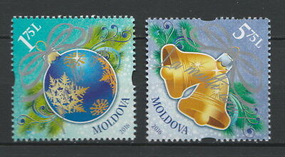 Moldova 2016 Christmas, New Year 2 MNH stamps
