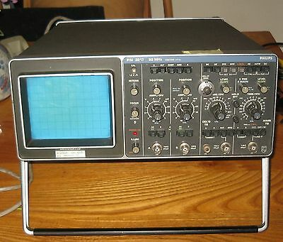 Philips 50 Mhz Pm3217 Oscilloscope- Working - Including Probes