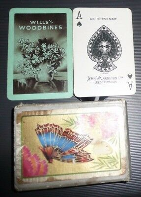 Wills's Woodbines vintage cigarette advertising 52 playing cards John Waddington