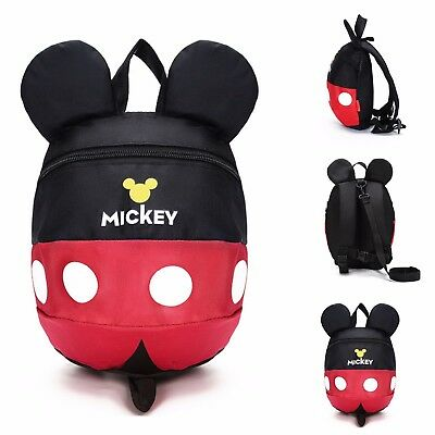 Toddler Kids Children Mickey Minnie Mouse Backpack Schoolbag Shoulder Bag Kinder