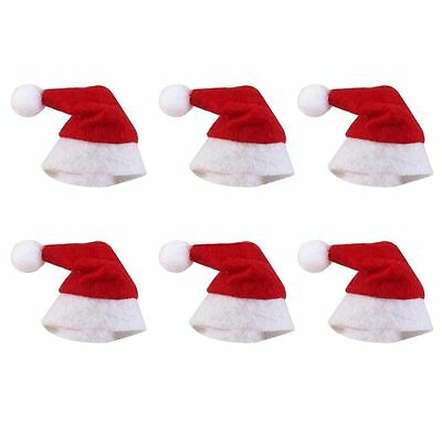 30/60pcs Christmas Mini Lollipop Lollypop Santa Claus Hats Cap Wrap Xmas Party