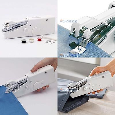 A▷ Portable Household Hand Stitch Electric Mini Handheld Sewing Machine Gift A▷