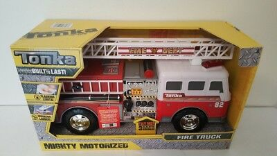 Tonka Mighty Motorized Vehicle Fire Truck Lights & Sounds Car Kids Toys NEW