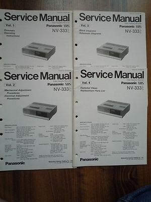 Panasonic NV-333 VHS VCR Video cassette tape deck Service manual wiring diagram