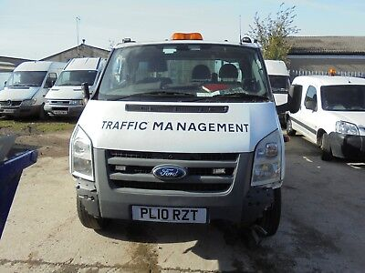 ford transit 2010 flat bed (stolen and recovered salvage)