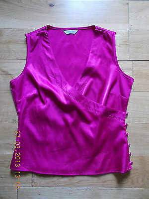 New Look Pink Satin Feel Wrap Top. Petite 14 ideal for size 12