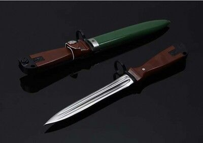 Free shipping Wood handle 440C Blade Fixed Blade Survival Bowie Hunting Knife 八一