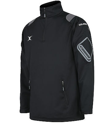 New Gilbert Rugby- Womens Blitz Soft Shell Jacket - Black Medium 12 -Running
