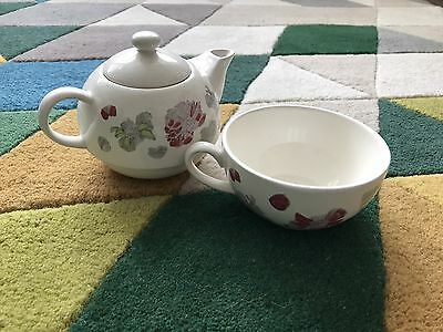 NEW Crabtree & Evelyn Tea Pot And Cup For One