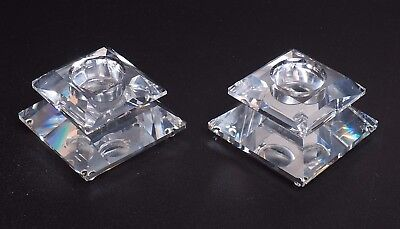 Pair Of Swarovski Candleholders 7600 103 000 With Box
