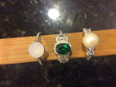 Fragrant Jewels Rings ~ Size 7 ~ Lot of 3