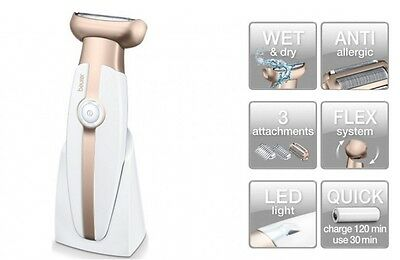 Wet Dry Ladies Cordless Electric Shaver Hypoallergenic Shaving Foil Hair Remover