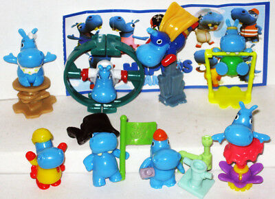 Russian HAPPOS hippos FAMILY BOYS KINDER SURPRISE NEW set 8 BPZ Russland