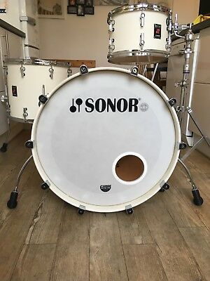 "Sonor Infinite Beech 22"" Bass drum and 16"" floor tom made in Germany"