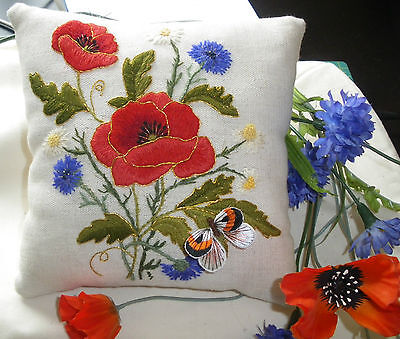 'Harvest Poppies'- an embroidery and stumpwork kit