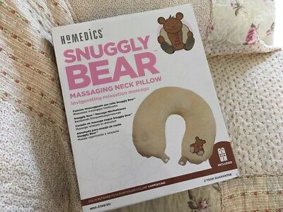 HoMedics Snuggly Bear Neck Massager & Car Travelling Cushion Pillow Adult