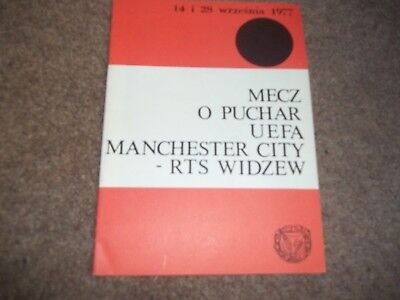 Rts Widzew V Manchester City Uefa Cup 28Th September 1977